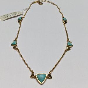 NWT Lauren Ralph Lauren Turquoise & Gold Necklace